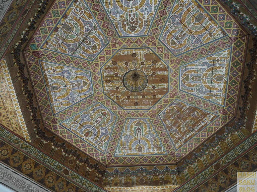 天井の彫刻